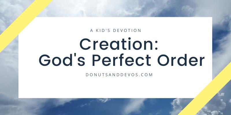 God's perfect order